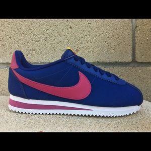 Nike Classic Cortez Leather Blue True Berry